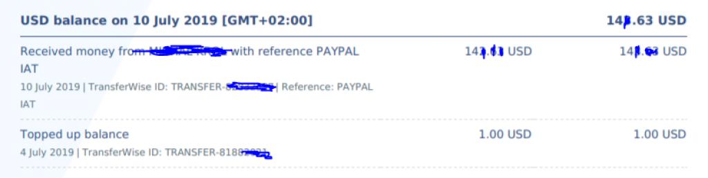 paypal wypłata USD